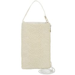 Bamboo Trading Co. Faux Pearl Gala Crossbody Handbag