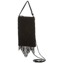 Bamboo Trading Co. Black Fringe Club Bag Crossbody Handbag