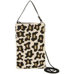 Bamboo Trading Co. Leopard Print Crossbody Handbag