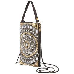 Bamboo Trading Co. Silver Tone Flower Handbag