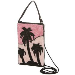 Bamboo Trading Co. Pink Palms Club Bag Crossbody Handbag
