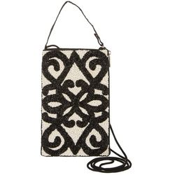 Bamboo Trading Co. Black Scroll Crossbody Handbag