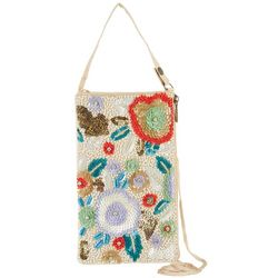 Bamboo Trading Co. Multi Flower Crossbody Handbag
