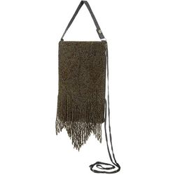 Bamboo Trading Co. Chocolate Brown Fringe Crossbody Handbag