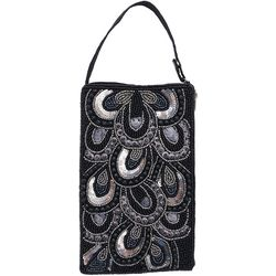 Bamboo Trading Co. Teardrop Pattern Crossbody Handbag