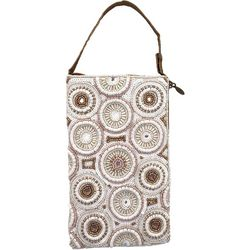 Bamboo Trading Co. Circular Pattern Crossbody Handbag