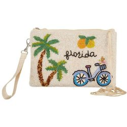 Bamboo Trading Co. Florida Beaded Crossbody Handbag