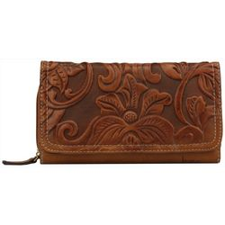 B.O.C. Floral Embossed Deluxe Wallet