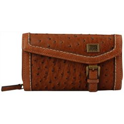 B.O.C. Amherst Ostrich Texture Deluxe Wallet