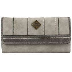 B.O.C. Grey Flap Front Wallet
