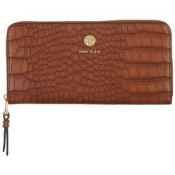 Anne Klein Animal Texture Slim Zip Around Wallet