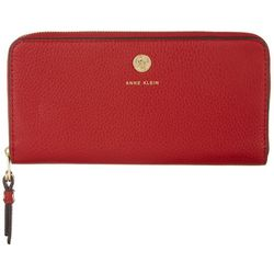 Anne Klein Solid Slim Zip Around Wallet