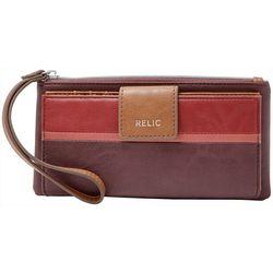 Relic Cameron Maroon Red Checkbook Wallet