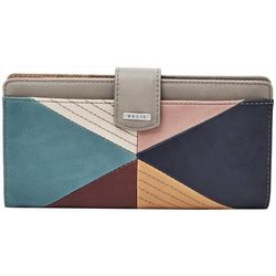 RELIC by Fossil Triangle Patchwork RFID Checkbook Wallet