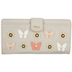 RELIC by Fossil Embellished Butterfly RFID Checkbook Wallet