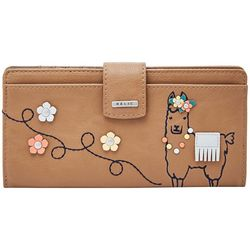 RELIC by Fossil Llama Embellished RFID Checkbook Wallet