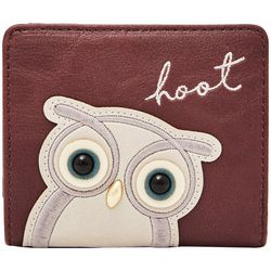 RELIC by Fossil Embellished Hoot Owl RFID Bi Fold Wallet