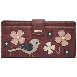 RELIC by Fossil Bird & Flowers RFID Checkbook Wallet