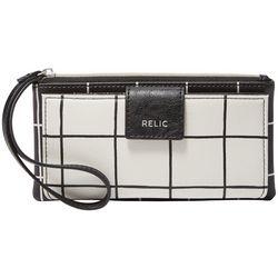 Relic Cameron Grid Wristlet Wallet