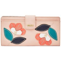 RELIC by Fossil Floral Embellished RFID Checkbook Wallet