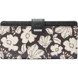Relic Sketched Floral Print RFID Checkbook Wallet