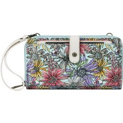 Sakroots Pastel Flower Garden Convertible Crossbody Handbag