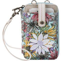 Sakroots Pastel Flower Garden Smartphone Wristlet