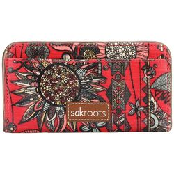 Sakroots Crimson Spirit Desert Slim Wallet