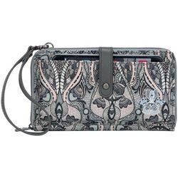 Sakroots Large Smartphone Dove Floral Crossbody Handbag