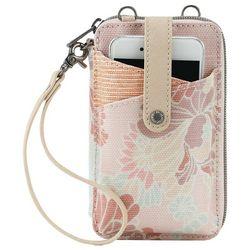 Sakroots Petal Pink Flower Smartphone Wristlet