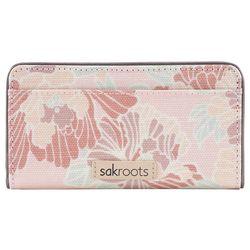 Sakroots Petal Pink Flowers Slim Wallet