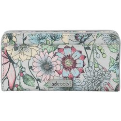 Sakroots Blush In Bloom Slim Wallet