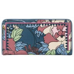 Sakroots Denim Flower Power Slim Wallet