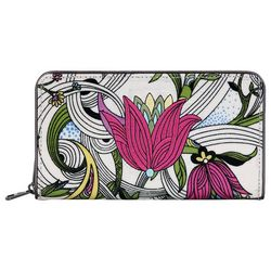 Sakroots White Peace Dove Large Zip Around Wallet