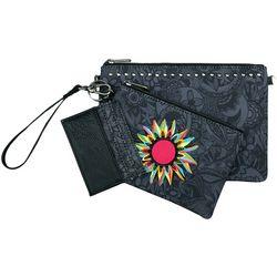 Sakroots Black Tonal Spirit Desert Adventure Triple Handbag