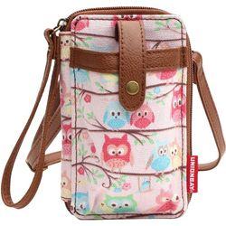 Unionbay Owl Print Cell Phone Holder Crossbody Handbag