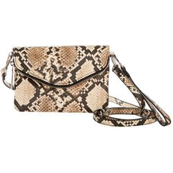 Enzo Angiolini Ezria Snake Wristlet Crossbody Handbag