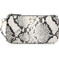 Nine West Embossed Snake Print Wristlet Wallet