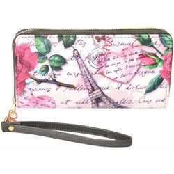 Coral Bay Travel Paris Zipper Wristlet Wallet