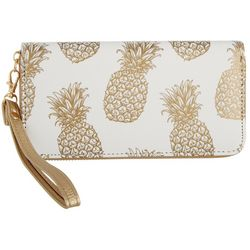 Coral Bay Pineapple Zipper Wristlet Wallet
