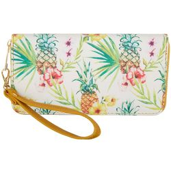 Coral Bay Pineapple Zipper Wrislet Wallet