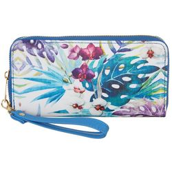 Coral Bay Tropical Zipper Wrislet Wallet