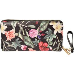 Coral Bay Floral Zipper Wrislet Wallet