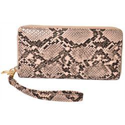 Coral Bay Snake Print Zipper Wrislet Wallet