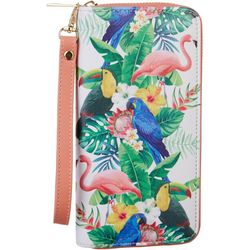 Coral Bay Tropical Birds Wristlet Wallet