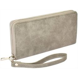 Coral Bay Grey Zipper Wrislet Wallet