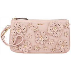 Nine West Floral Embellished Everyday Wear Wristlet