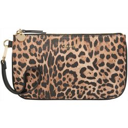Nine West Leopard Print Wristlet Wallet