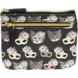 Buxton Hudson Cat Print RFID ID Coin & Card Wallet