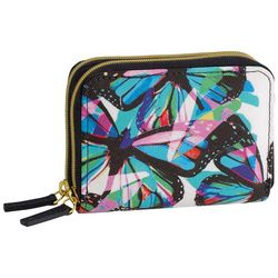 Buxton Butterfly Print RFID Wizard Wallet